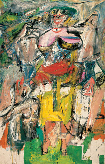 """Woman and Bicycle"" — Willem de Kooning"
