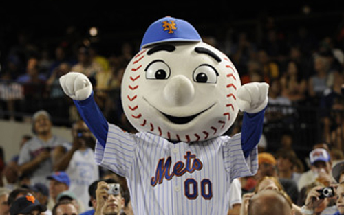 Mr. Met wants your blood...