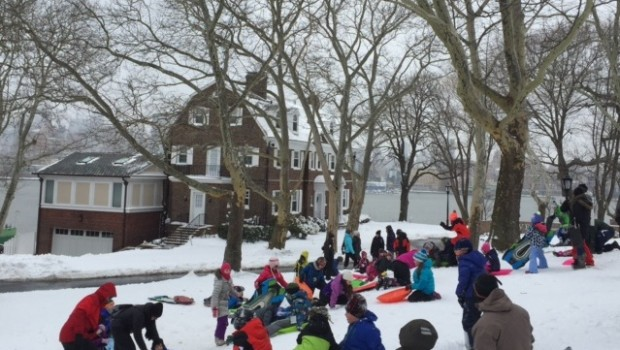 Hoboken Sledding Report: Packed Powder, ICY