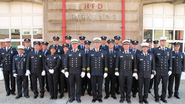 Hoboken Fire Department Holds Promotions Ceremony