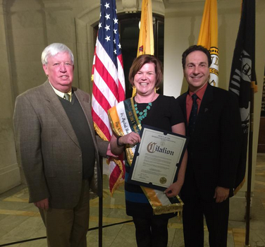 Hoboken Woman of Irish Heritage of the Year Janemarie Cunning Valente (Hudson County Photo)