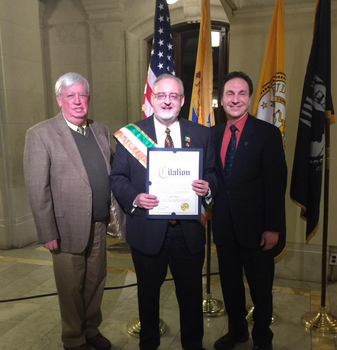 Hoboken Man of Irish Heritage of the Year William Coughlin (Hudson County Photo)