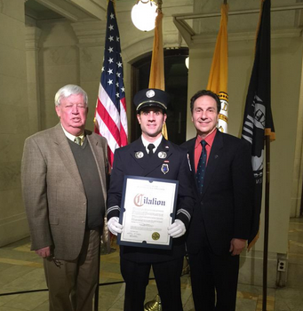 Hoboken Irish Fireman of the Year Brian Crimmins (Hudson County Photo)
