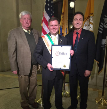 Hoboken Irishman of the Year Brian Keller (Hudson County Photo)