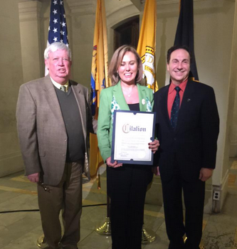 Hoboken Irishwoman of the Year Cathy Nicholson (Hudson County Photo)