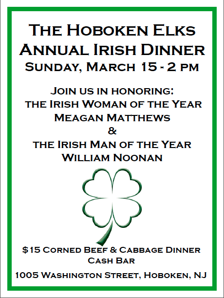 Hoboken Elks Irish Dinner
