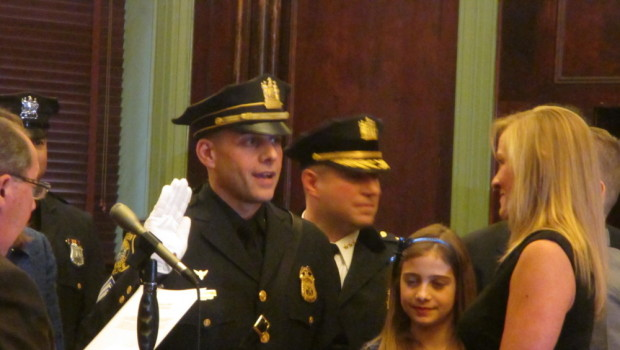 Hoboken Police Department Ceremony — Sergeant John Petrosino was promoted to Lieutenant