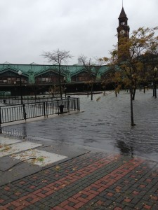 Hoboken Train Terminal Near Pier A—12 hours BEFORE Superstorm Sandy's Storm Surge Overwhelmed the PATH Train System