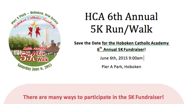 Hoboken Catholic Academy 5K — June 6th; Early Registration Deadline THURSDAY