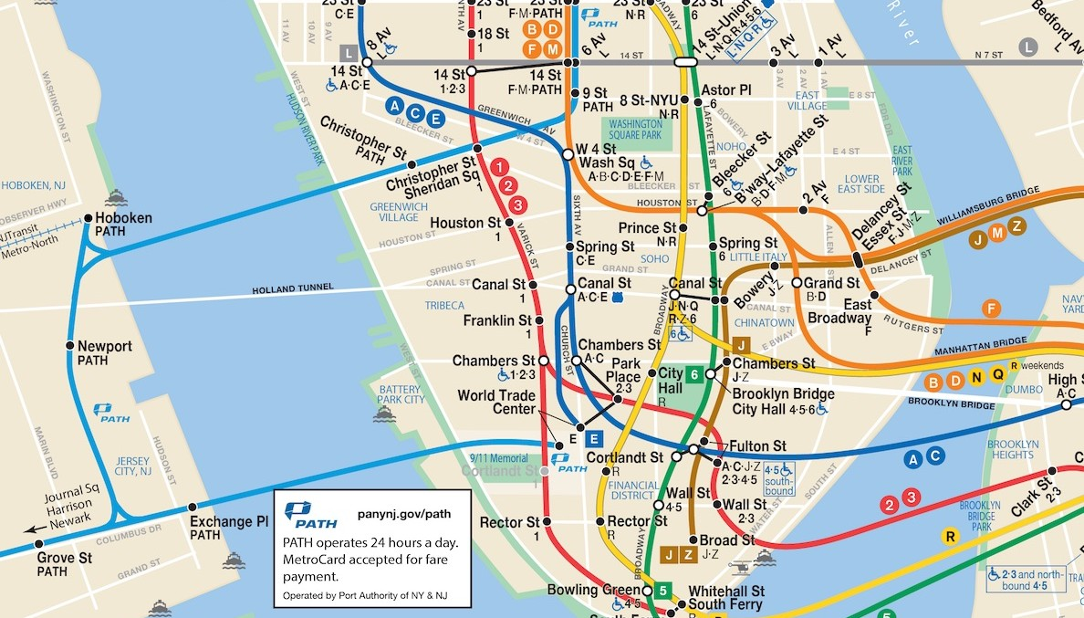 L Subway Map.Putting Hoboken On The Map Should Nyc Have To Publicly Acknowledge