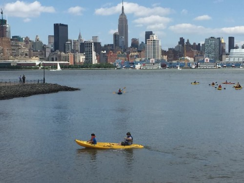 Hoboken's scenic Waterfront... on a good day.