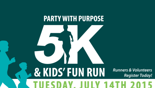 IT'S GO TIME: Party With Purpose 5K & Kids' Fun Run — TONIGHT