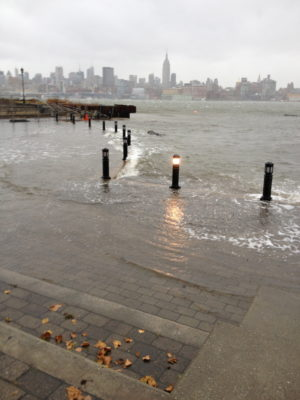 Sinatra Park flooded 14 hours before Sandy hits