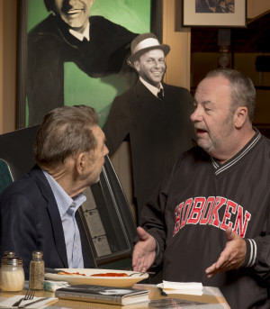 Hamill, discussing Sinatra with Hoboken resident Peter Ising