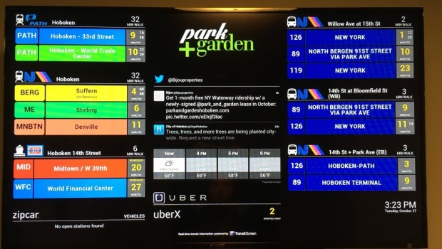 KNOWING IS HALF THE BATTLE: New Building Offers Real-Time Commuting Updates in the Lobby via TransitScreen