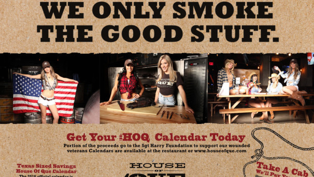 hMIXER / Calendar Release Party at House of 'Que to Support the Sgt. Harry Foundation — THURSDAY, JAN. 28