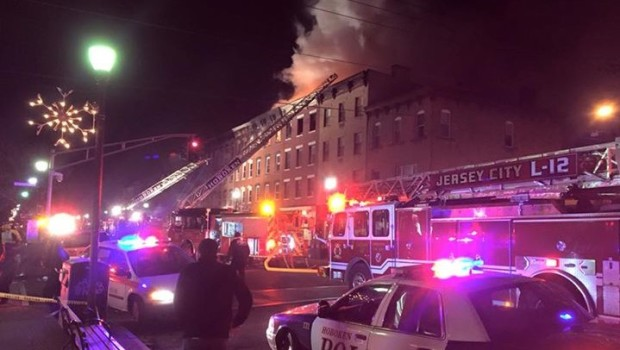 HOBOKEN FIRE: Blaze on Washington Street in Freezing Conditions Injures First Responders