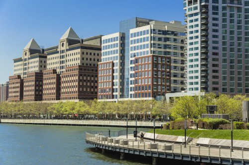 SJP Properties' Waterfront Corporate Center II in Hoboken, NJ