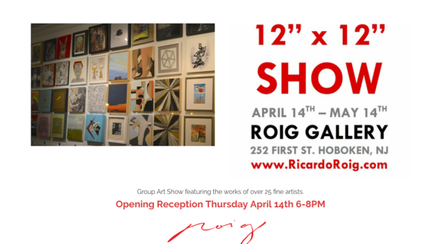 THURSDAY NIGHT: 12″ x 12″ Group Art Show at Roig Gallery, plus After-Party at FUSE