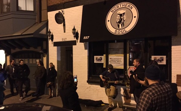 Scene outside the former Northern Soul location at 557 1st Street in May, following the bar's abrupt closure.