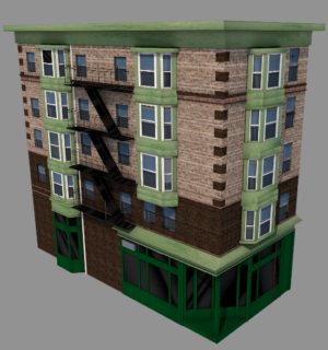 3D image of Elysian Cafe at 1001 Washington Street