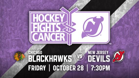 quality design a2708 bbabe HOCKEY FIGHTS CANCER NIGHT: New Jersey Devils Host Chicago ...