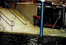 PATH flooding from a nor'easter in 1992 (City of Hoboken)
