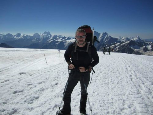 Justin Condon climbing Mt. Elbrus in Russia—Europe's largest peak.