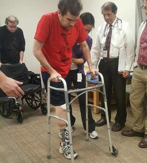 Yesterday, Jack Silbert took his first steps since August. Many more to come... (Photo by Esteban Parada)