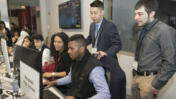 TRADING DAY 2017 — Stevens Shows Local Students How Tech Meets Finance