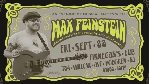 FRONT & CENTER: Max Feinstein LIVE at Finnegan's — FRIDAY, SEPTEMBER 22