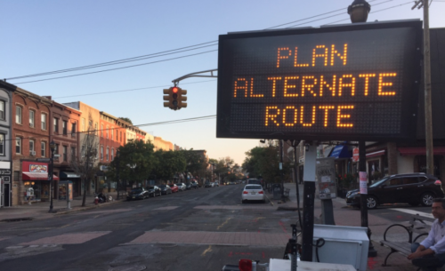 MAY BE DONE: Hoboken Washington Street Redesign Now Extended Through Memorial Day