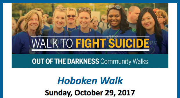 OUT OF THE DARKNESS: Walk to Prevent Suicide — SUNDAY, OCTOBER 29 @ STEVENS