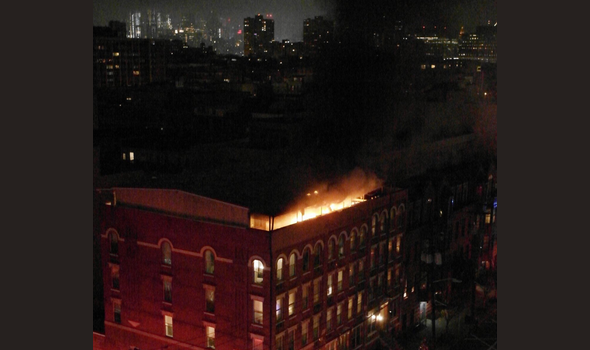 Late-Night Two-Alarm Fire on Hoboken's Observer Highway