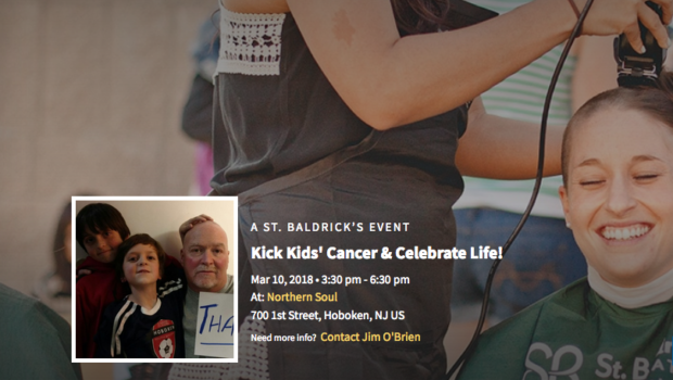 FIGHT KIDS' CANCER AND CELEBRATE LIFE: St. Baldrick's Foundation Event at Northern Soul — SATURDAY, MARCH 10