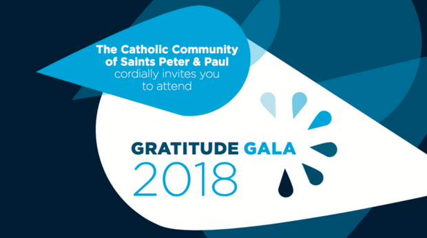 GRATITUDE GALA: Saints Peter & Paul to Honor Parishoners, Former Pastor, and Raise Funds for Community Organizations—April 26th @ Chart House
