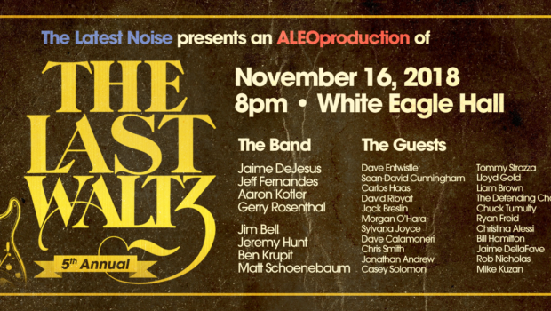 "THIS SHOW SHOULD BE PLAYED LOUD: White Eagle Hall Hosts ""The Last Waltz""—Friday, November 16th"