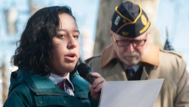 Hoboken Veterans Day Essay Contest  Winner Angelina C  Hoboken Veterans Day Essay Contest  Winner Angelina C Rodriguez  Shares Her Thoughtful Piece Diy Decorating Projects also Sample High School Essays Argumentative Essay Papers