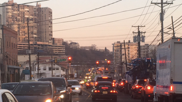 Weehawken Water Main Break Causing Gridlock Conditions For Morning Commute