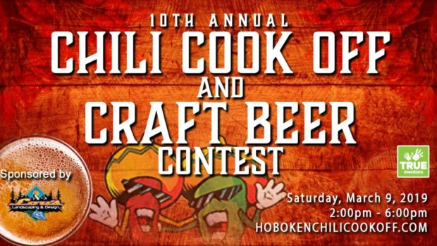 EAT CHILI, DRINK BEER: 10th Annual Hoboken Chili Cook-Off & Craft Beer Contest — SATURDAY, MARCH 9th @ OLG