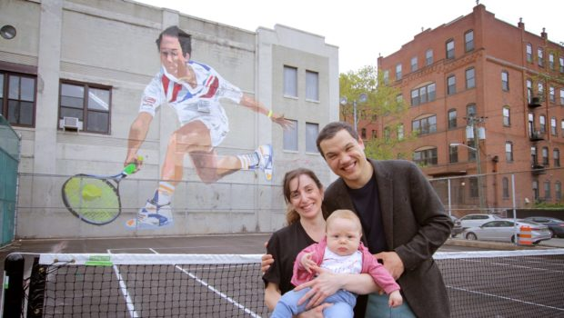 Ace Artist Ricardo Roig Serves Up Mural of Hoboken Native/Tennis Legend Michael Chang