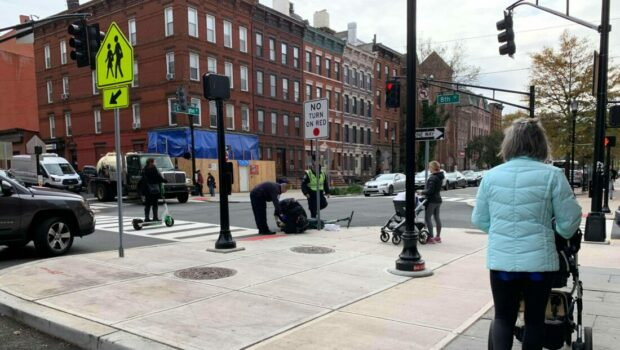 Collision Between Scooter Rider and Automobile on 8th & Washington as Hoboken's Lime Pilot Program Comes to an End