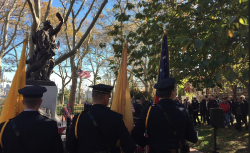 Hoboken Veterans Day Services in Elysian Park — SUNDAY, NOV. 10th & MONDAY, NOV. 11th