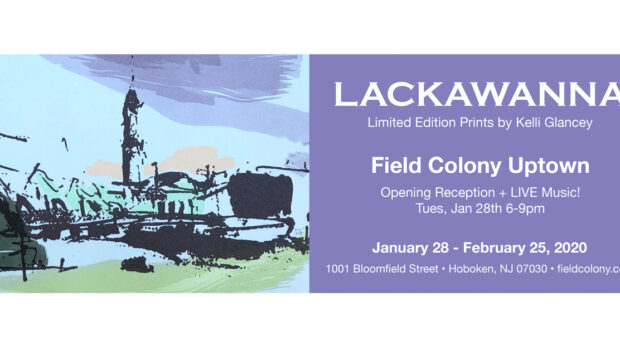 LACKAWANNA: Artist Kelli Glancey Exhibits Limited Edition Prints at Hoboken's Field Colony