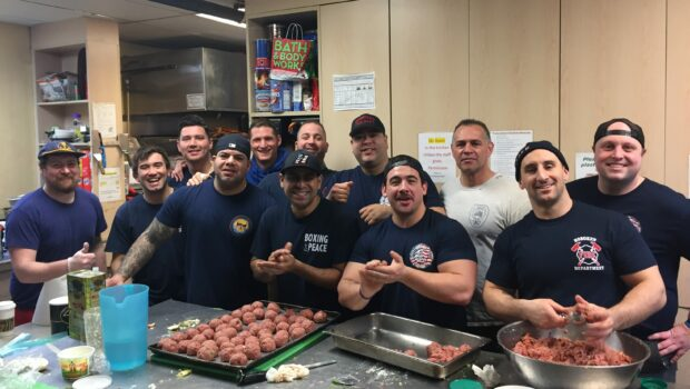 FIRE UP THE KITCHEN: Hoboken Fire Department Stop By Shelter to Deliver Donations, Cook Lunch