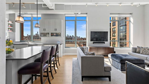 FEATURED PROPERTY: 1500 Garden Street 8L, Uptown Hoboken; Corner 3BR at Harborside Lofts — $1,995,000