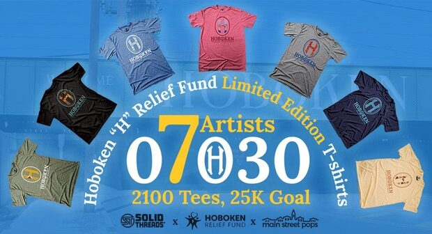 Small Businesses Team with Local Artists to Create Stylish Limited Edition T-Shirts for the Hoboken Relief Fund