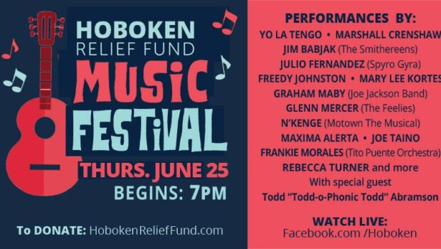 Yo La Tengo, Marshall Crenshaw, Freedy Johnston and So Many More Unite for the Hoboken Relief Fund Music Festival — THURSDAY, JUNE 25