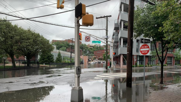 RAIN FALLS, HOBOKEN FLOODS: Mayor Defends Flood Mitigation Efforts in Wake of Fay; Labels Sewer Replacement 'Impractical'